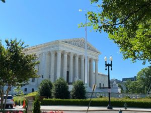 View from outside the office: The US Supreme Court, Washington DC.