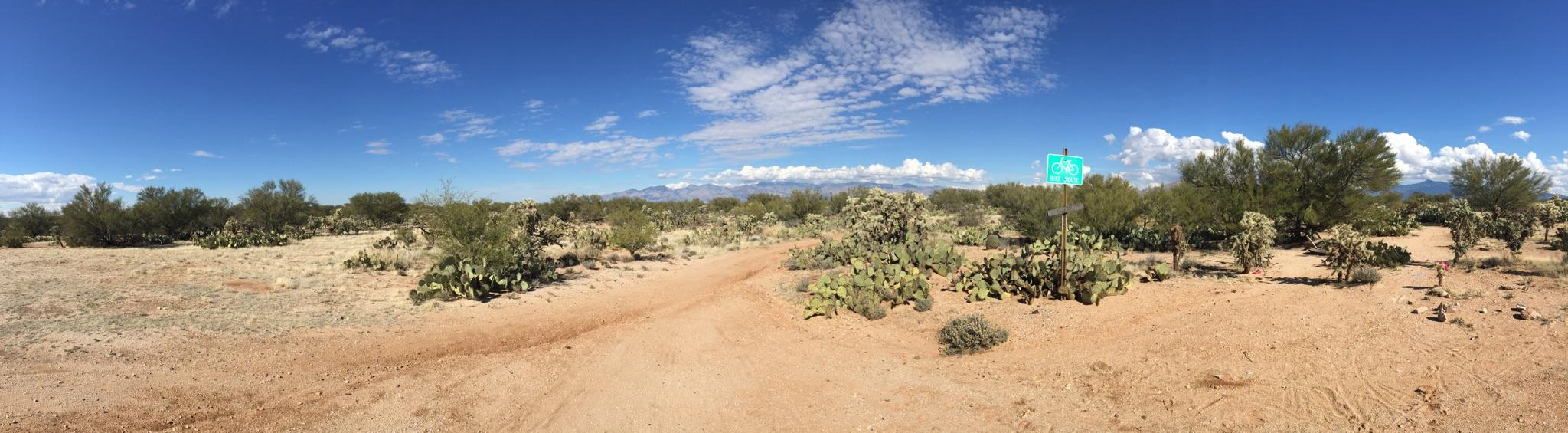 pano view of trail