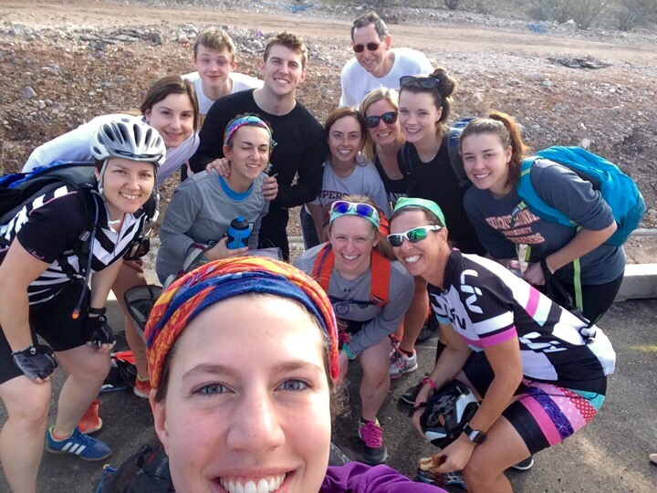 post bike ride group pic