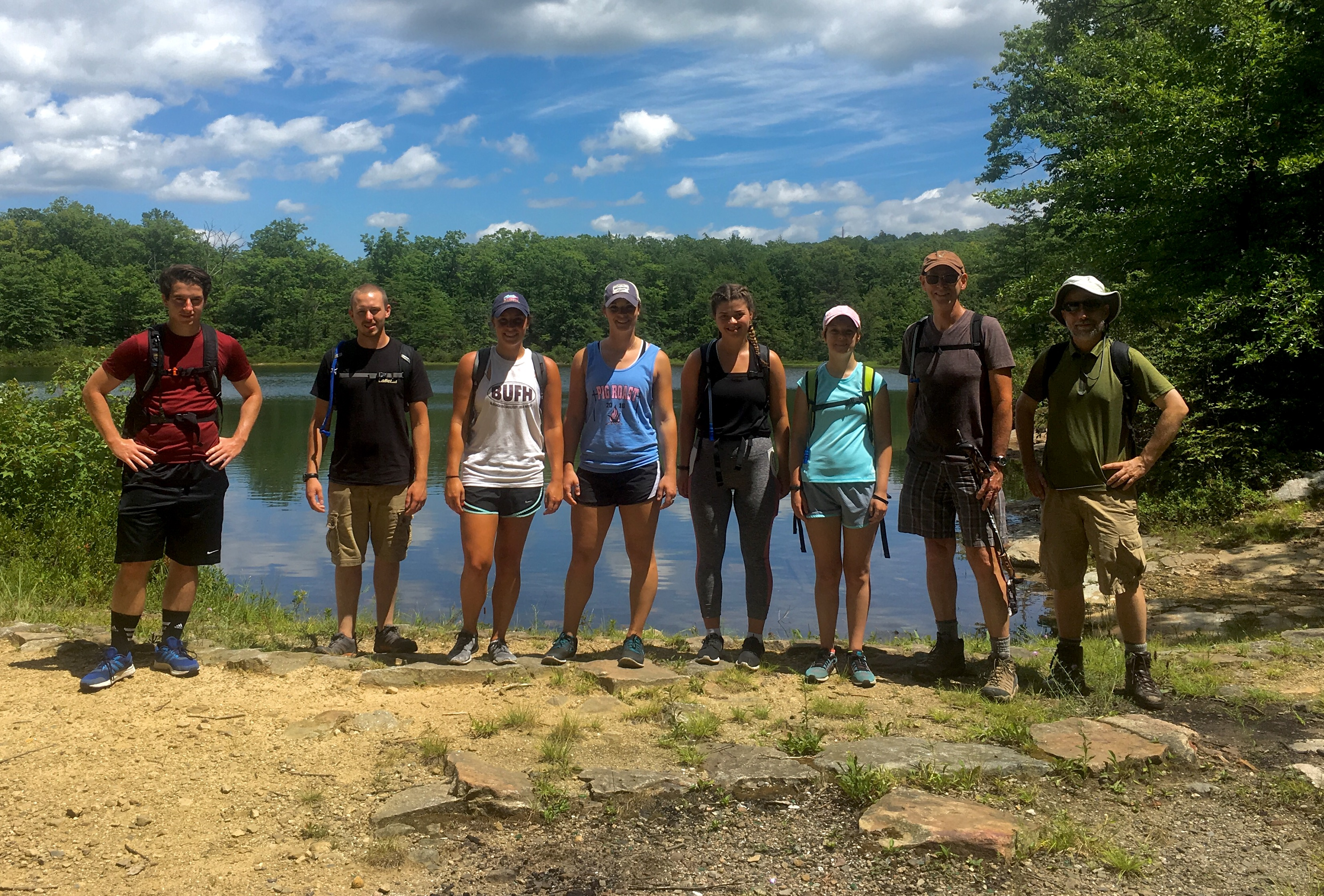 The EP NEPA crew with Biology Faculty Specialist Vince Marshall (right) and EP 2015 alumni Gabby Prezkop and Marissa D'Avignon (2nd and 3rd from left, respect.)