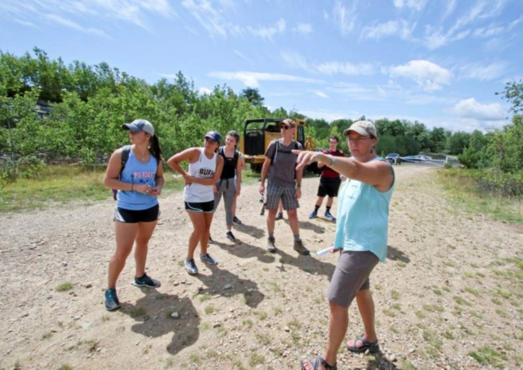 Jenny Case describes the history of the Eales Nature Preserve (photo courtesy of Michael Mullen, Times-Tribune)