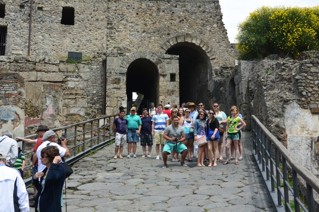 Entering Pompeii