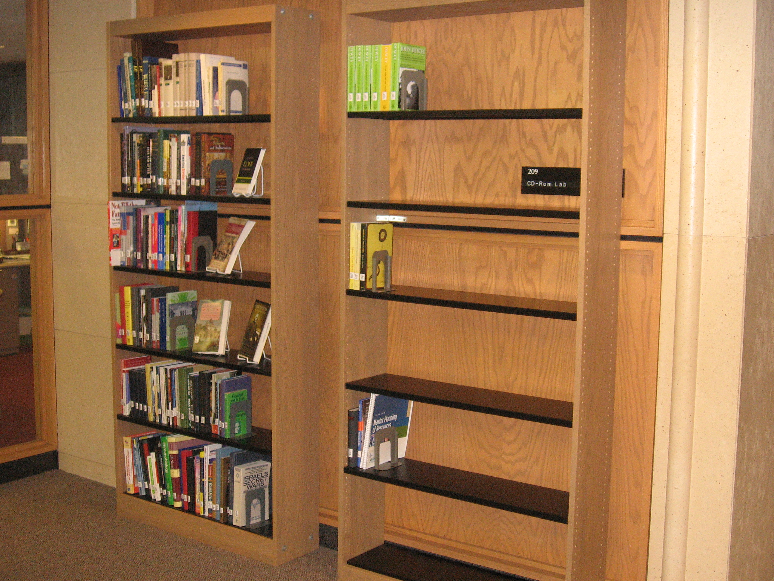 Here are our new shelves.