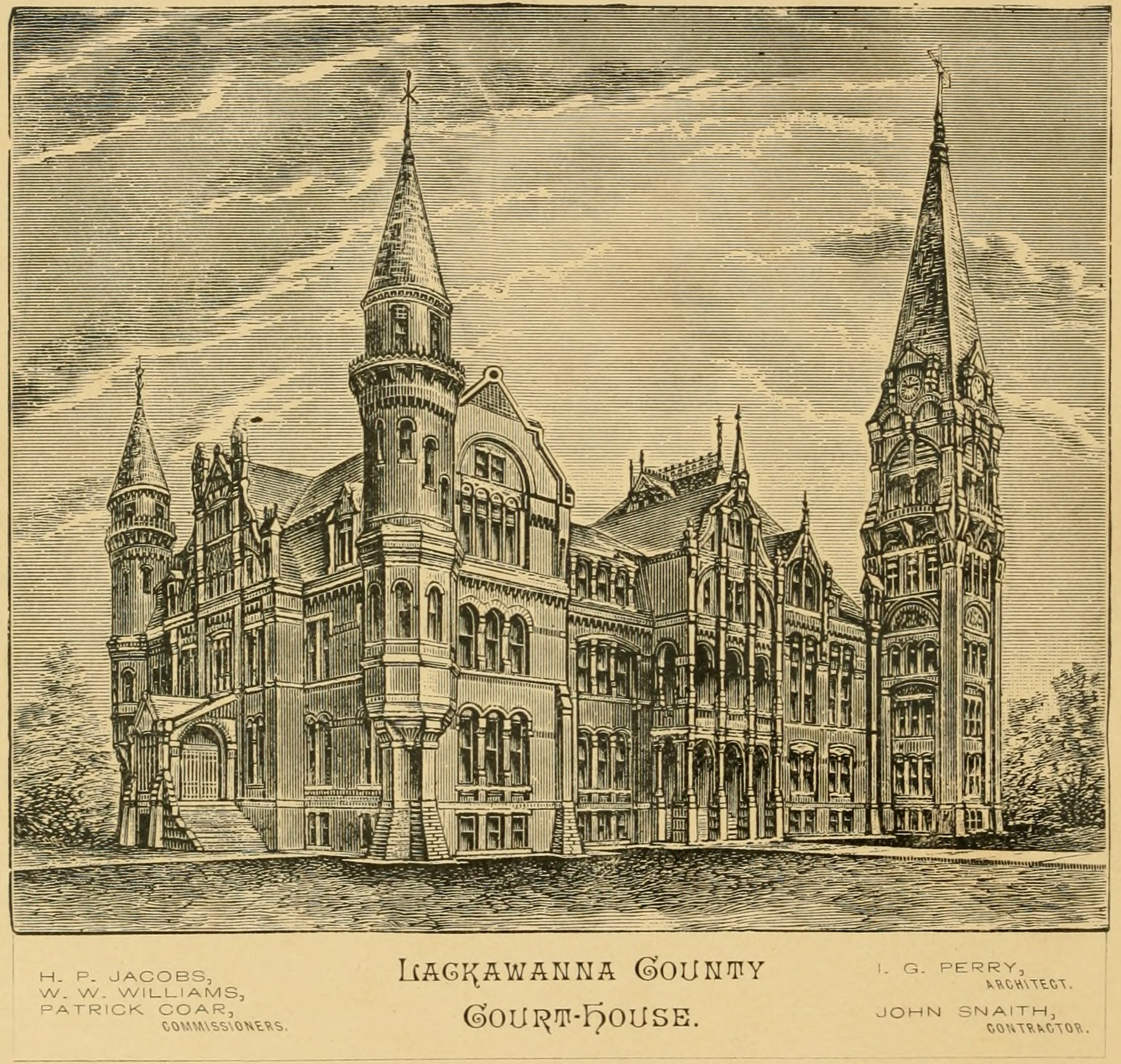 Proposed Lackawanna County Courthouse, 1882