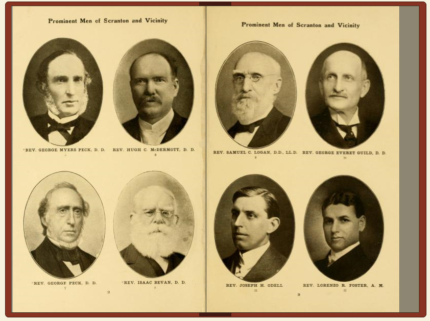 "A page from ""Prominent Men of Scranton and Vicinity,"" one of WML's newly digitized books"
