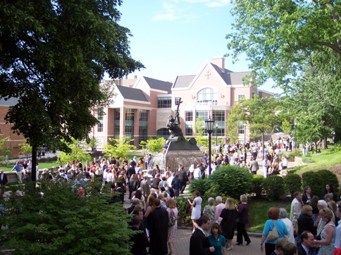 Commencement festivities on campus