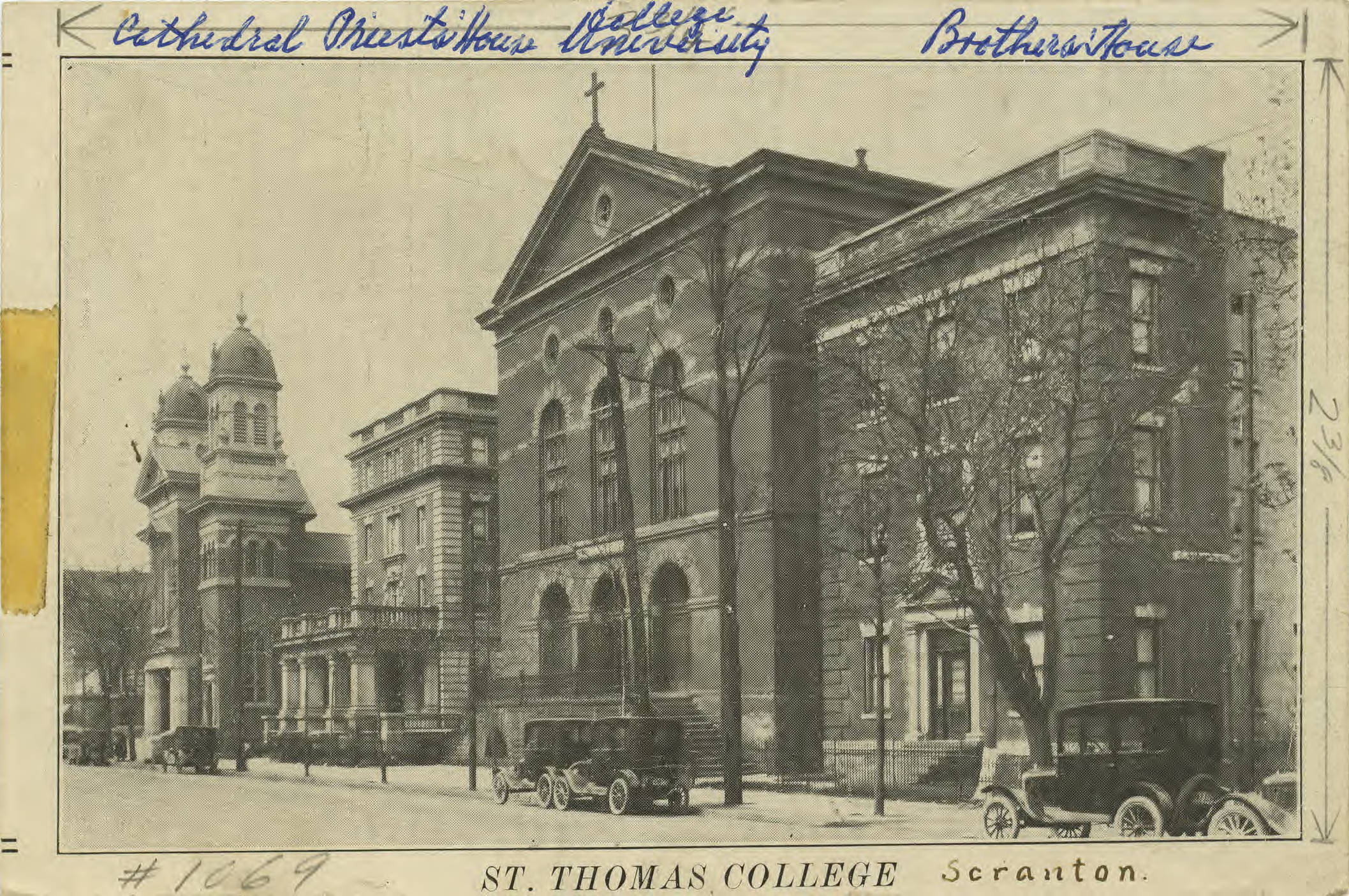 St. Thomas College campus, ca. 1920s