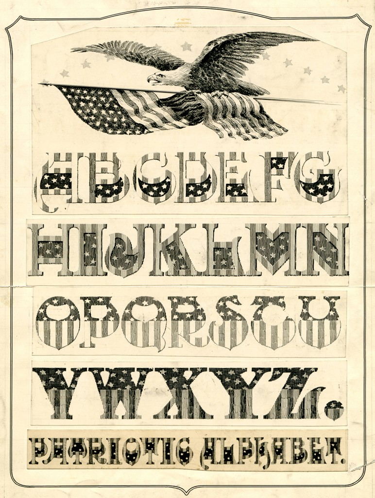 Patriotic Alphabet (undated), by Charles Paxton Zaner
