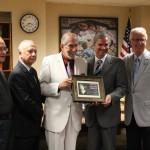 Fr. Ron McKinney, S.J., Charles Kratz, Brian McHugh, Don Boomgaarden, Ph.D., and Gary Olsen