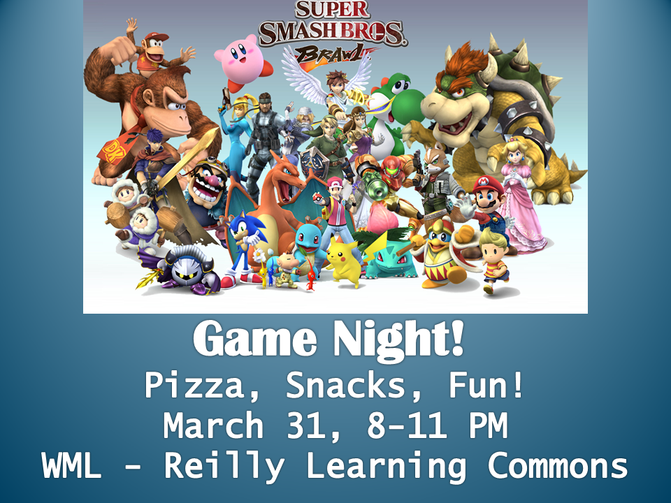 Game Night March 2016- Smash Bros
