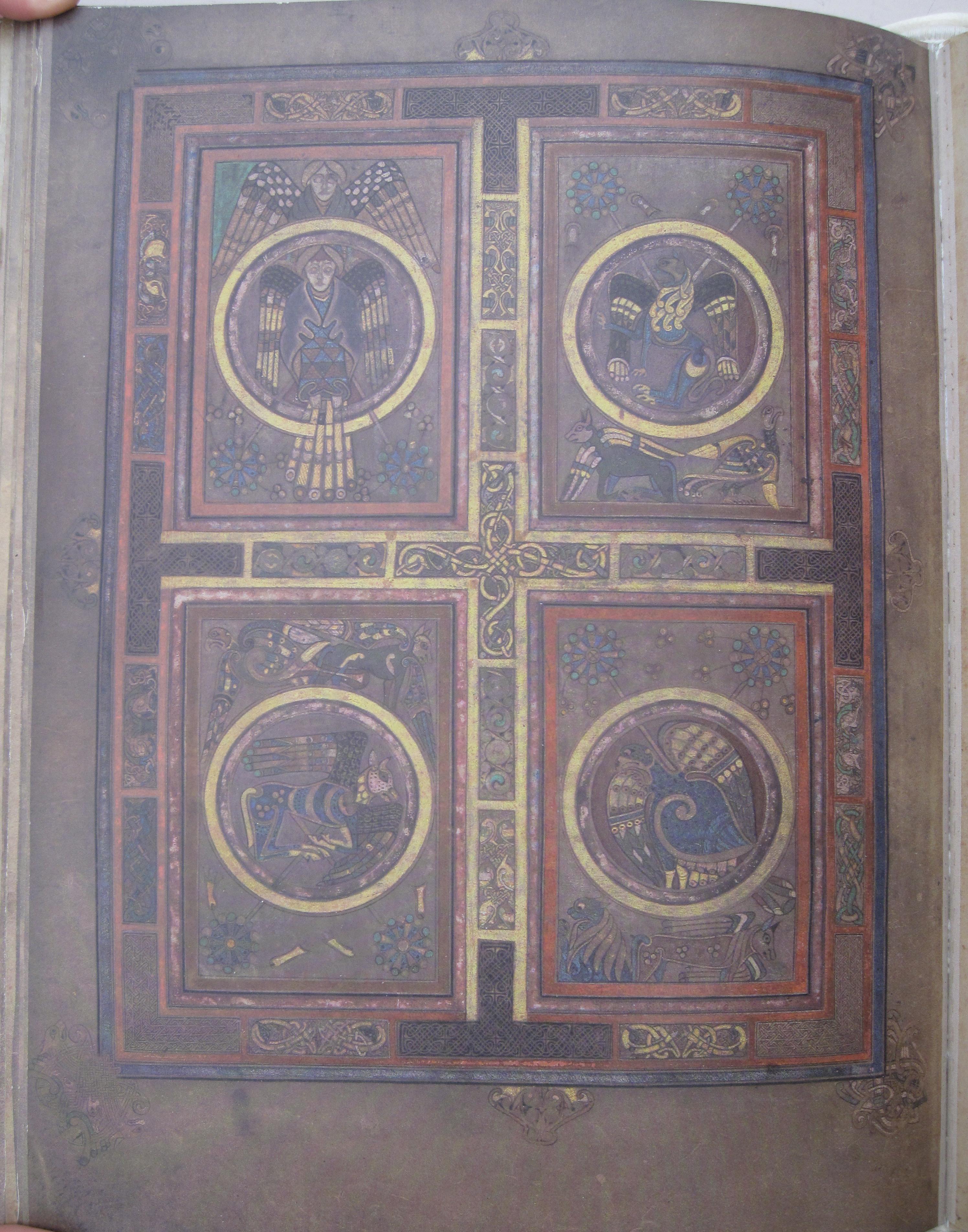 Fine Art Facsimiles The Book Of Kells And The Lindisfarne Gospels