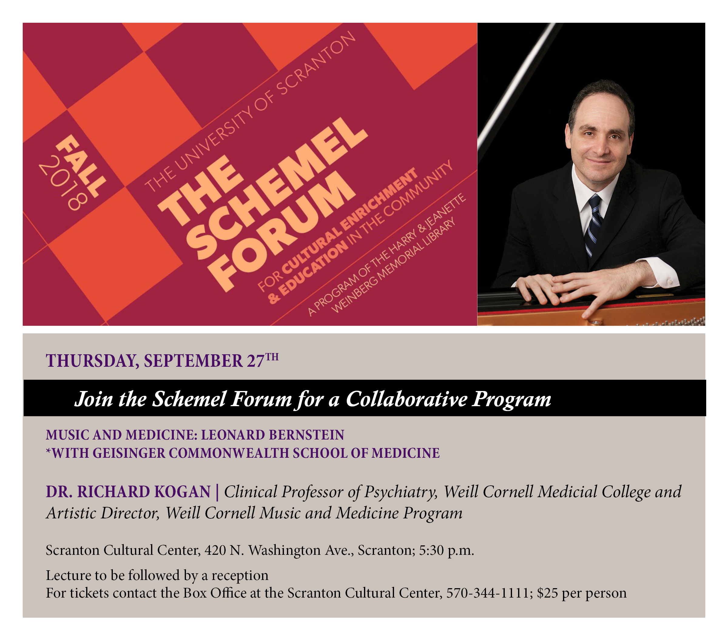 The Schemel Forum with Geisinger Commonwealth School of Medicine
