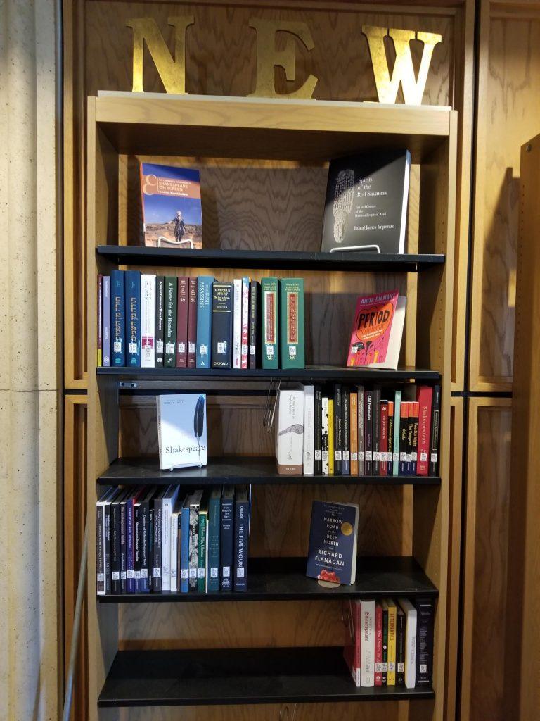 New Books Book Shelf